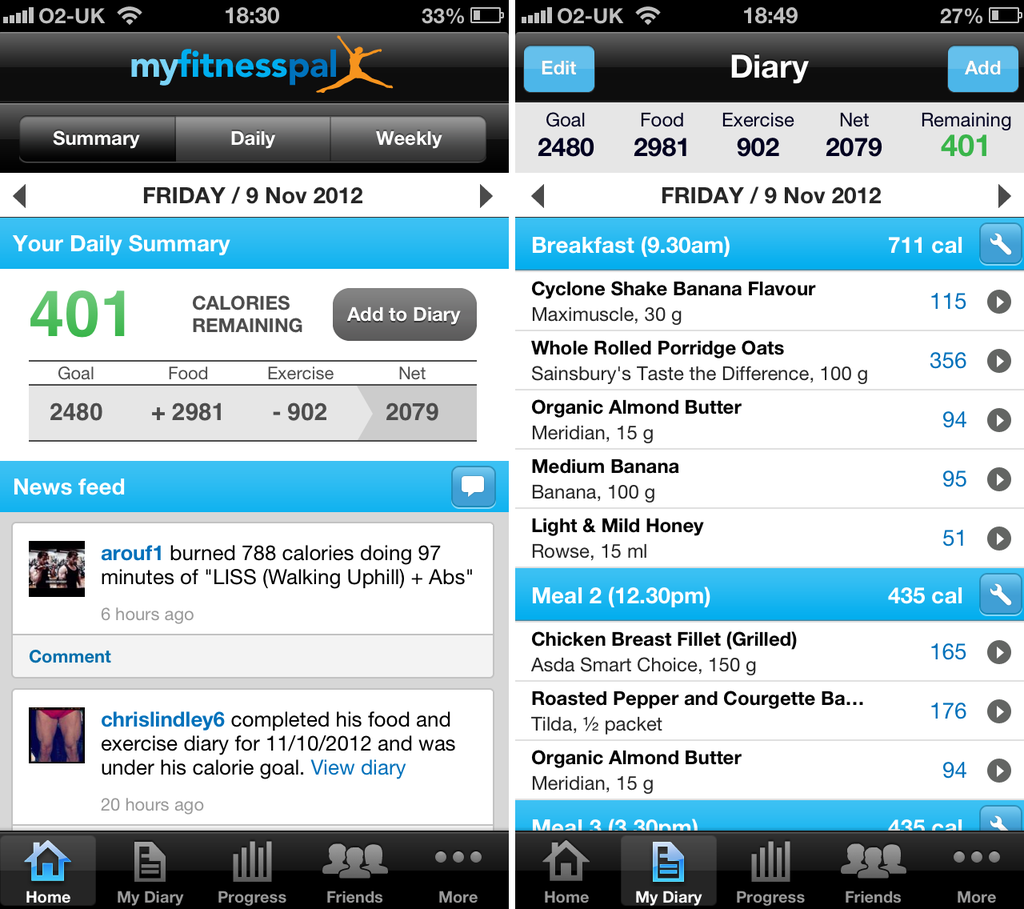 Calorie Counter MyFitnessPal Android App Review