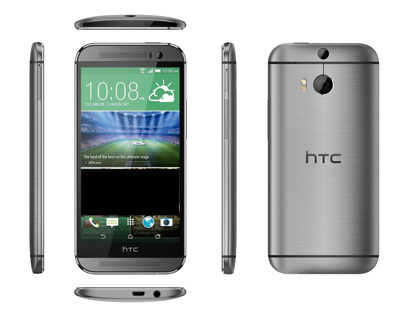 HTC One M9 Features a New Liquid Silicone and Aluminum Surround, 18 MP Front, and 5 MP Rear Camera