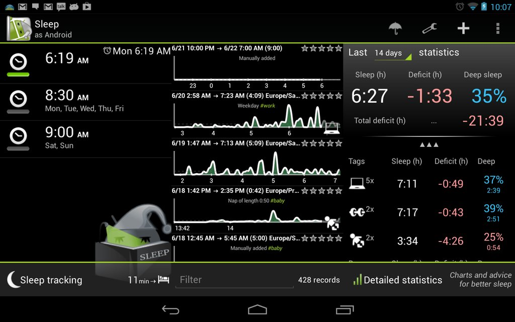SleepBot Sleep Cycle Alarm Android App Review