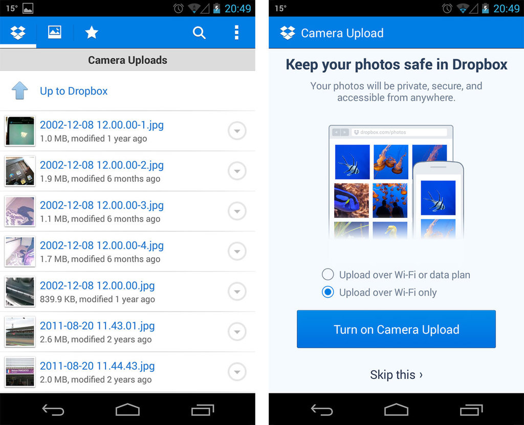 Dropbox Android App Review and Free Download