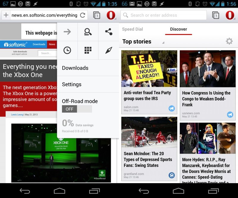 Opera Android App Review and Free Download