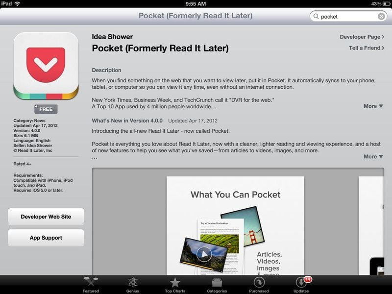 Pocket Android App Review and Free Download