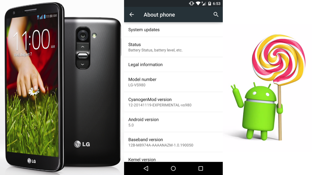 LG G2 Receives Android 5.0 Through all 4 Top US Carriers Including Sprint, Verizon, AT&T, and T-Mobile