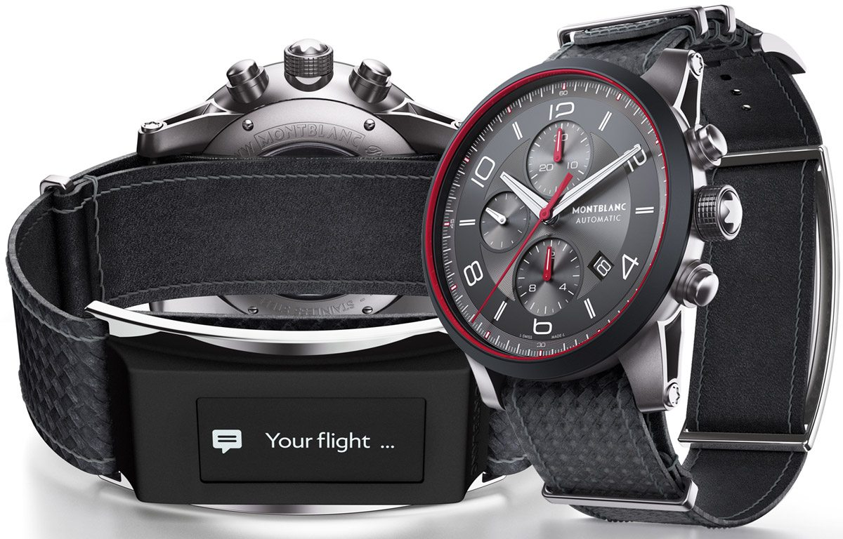 Get to Know the Montblanc e-Strap Smartwatch with Dual Screens Set to Launch in June