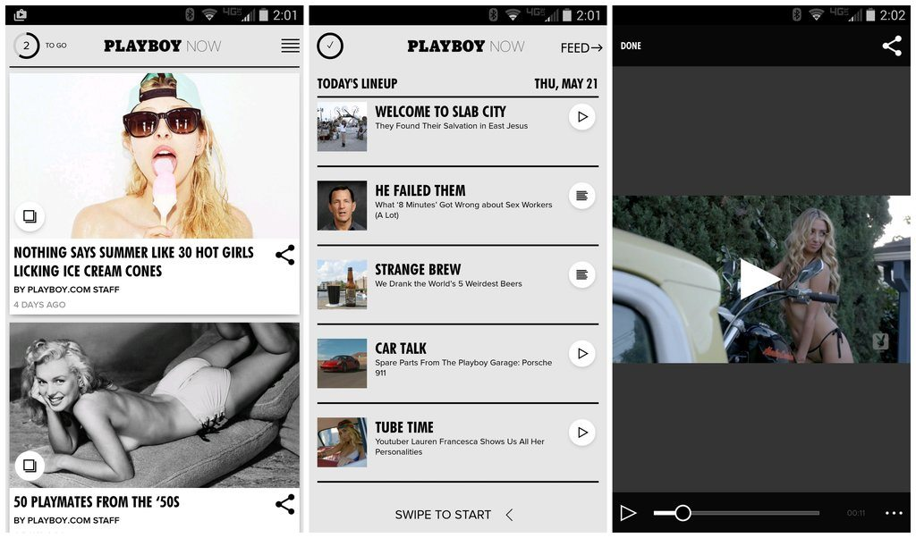 "Playboy Now Android App Now Available Offering a ""Different"" Type of Entertainment"
