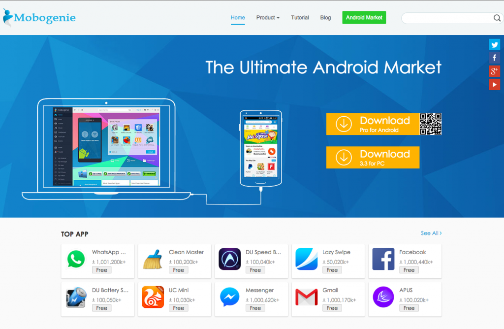 #1 in Our Android Marketplace List - Mobogenie