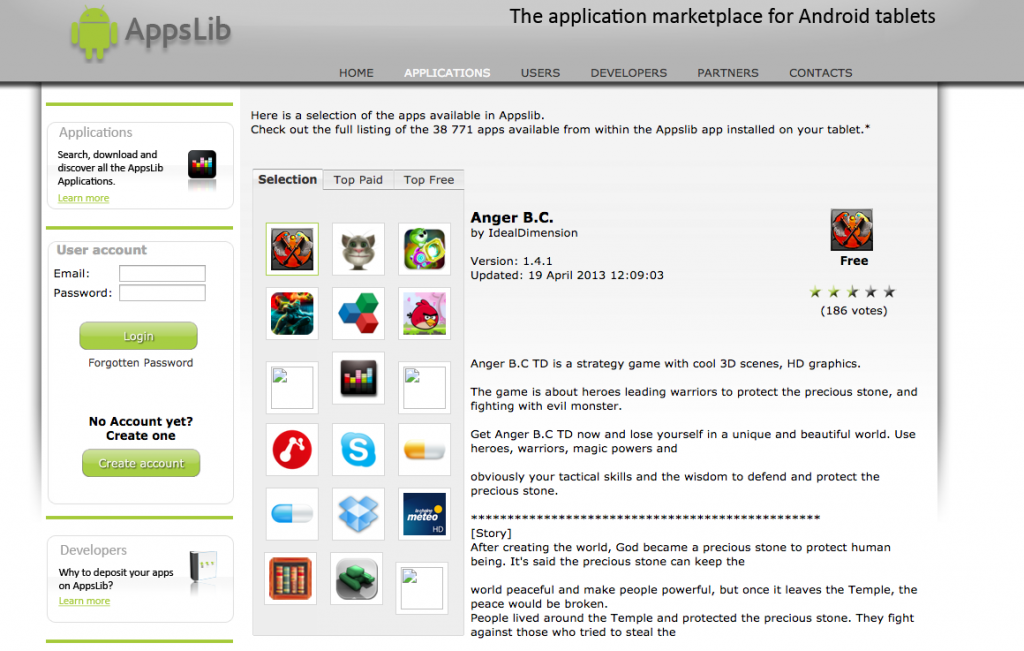 #2 in Our Android Marketplace List - AppsLib