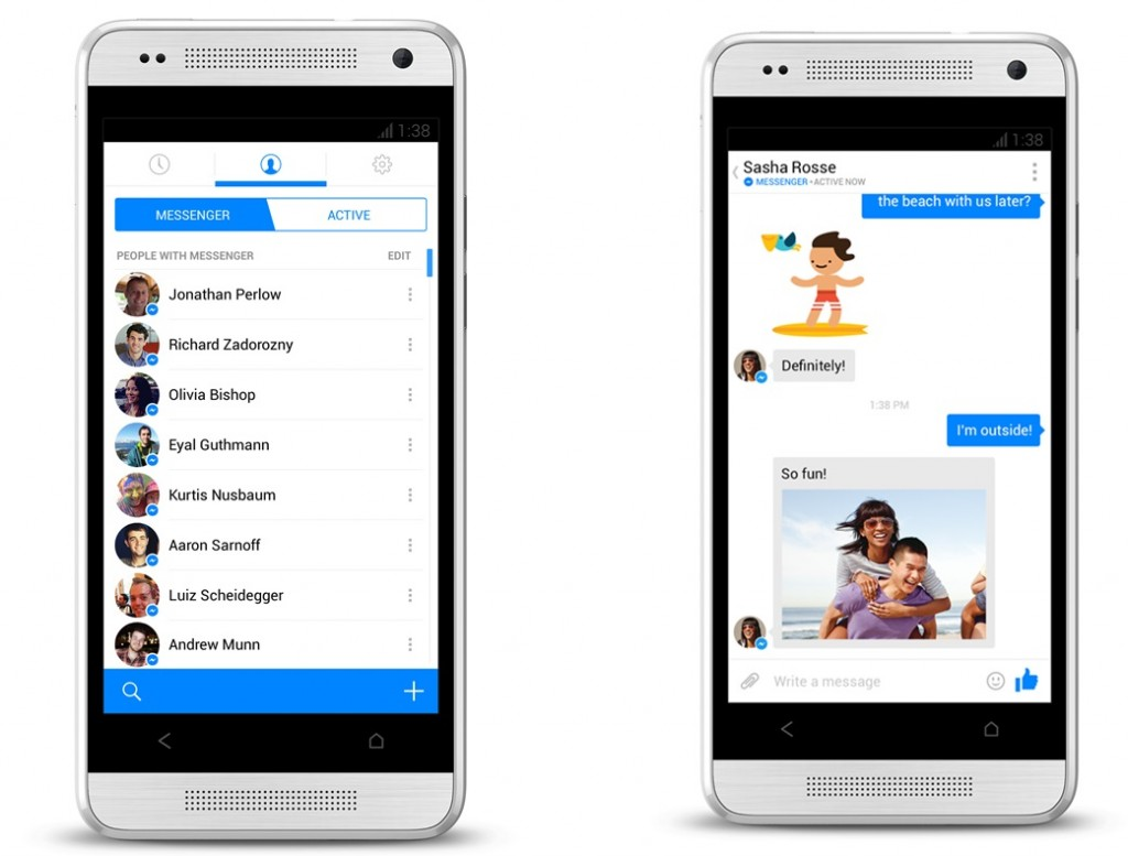 #4 in Our List of Best Android Messaging Apps - Facebook Messenger