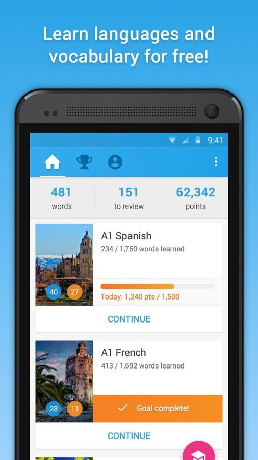 Best Android Language Apps - Memrise