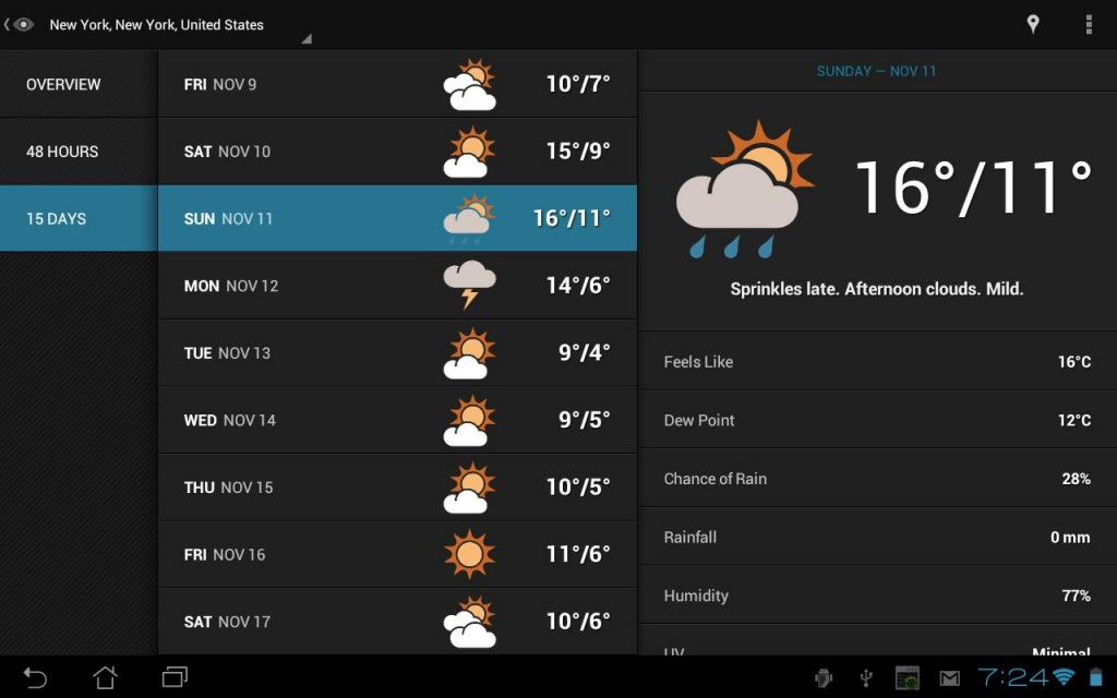 Best Android Weather Apps in 2016 - Eye in the Sky Weather