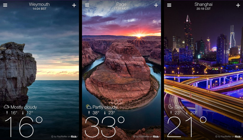 Best Android Weather Apps in 2016 - Yahoo Weather