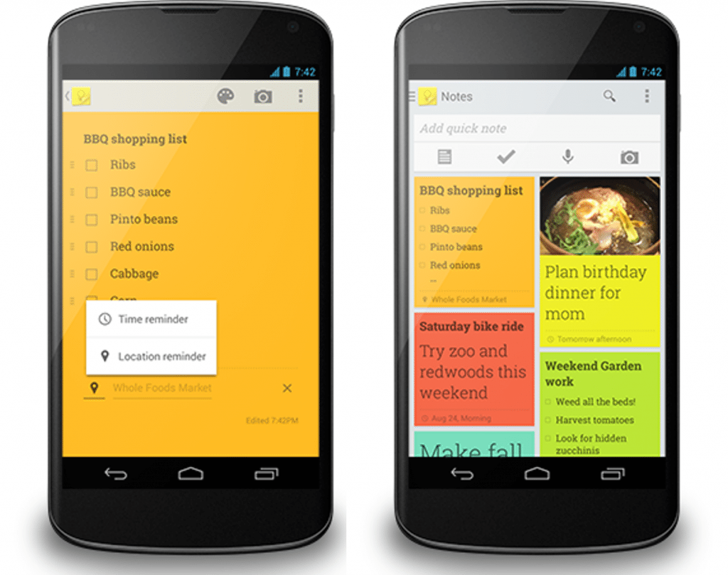#2 in Our List of Android Apps for Productivity - Google Keep