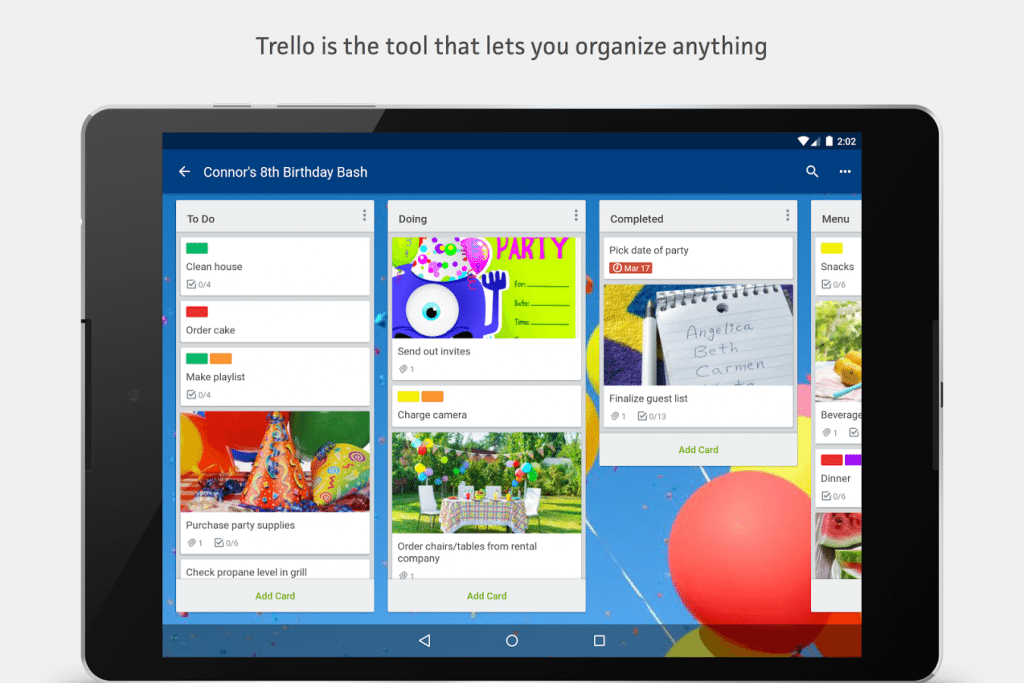 #3 in Our List of Android Apps for Productivity - Trello