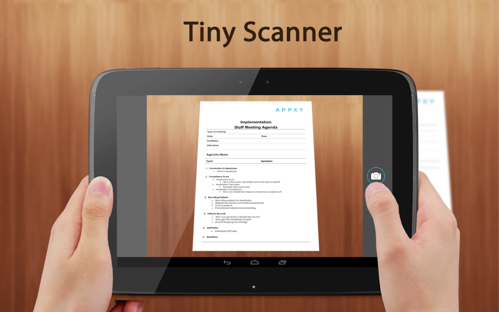 #5 in Our List of Android Apps for Productivity - Tiny Scanner