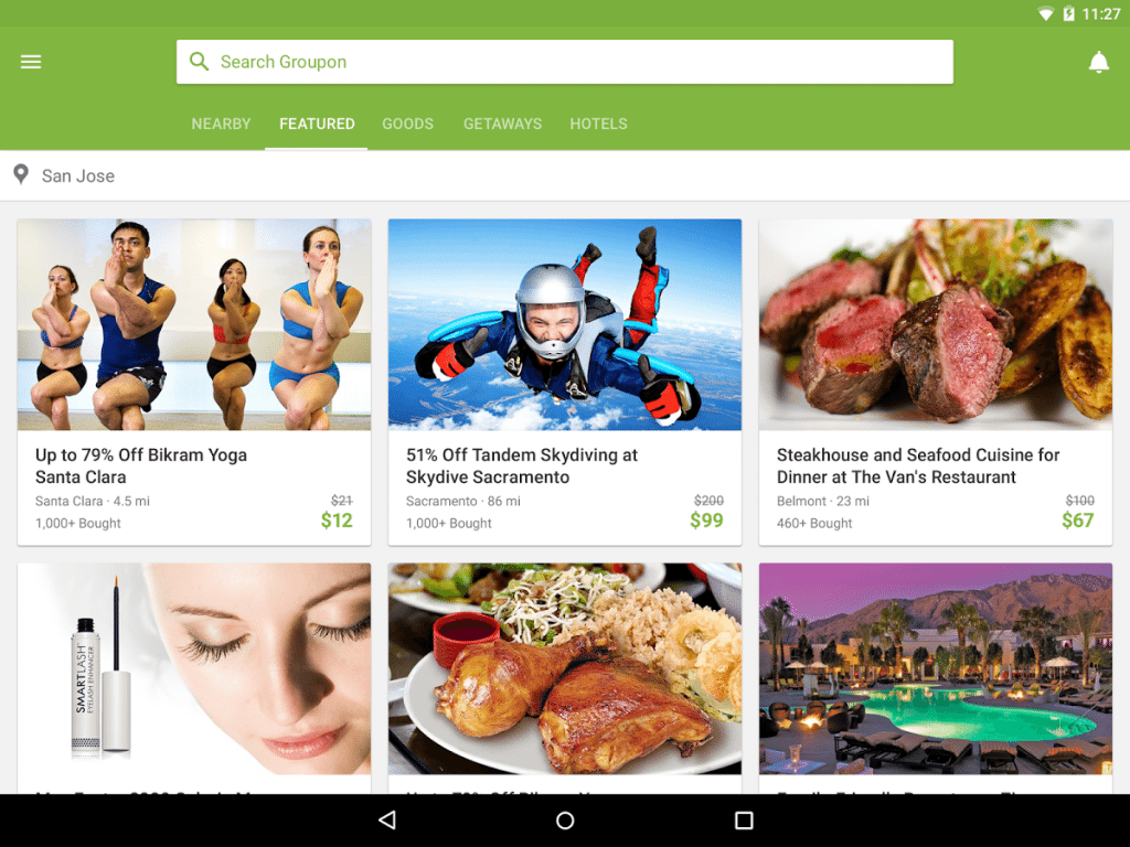 Android Apps for Shopping – Groupon
