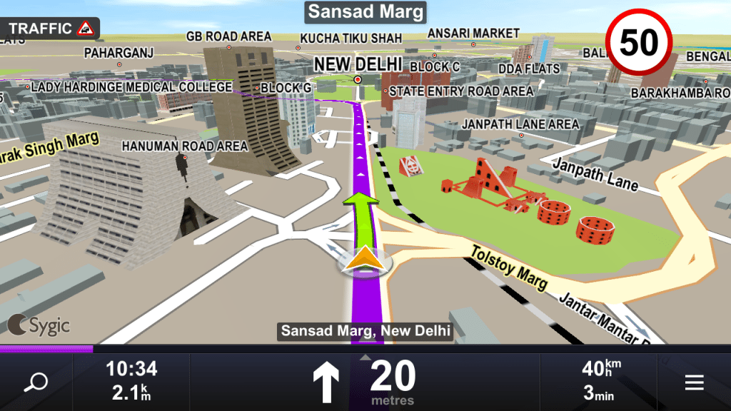 Android GPS Apps Review - GPS Navigation & Maps Sygic