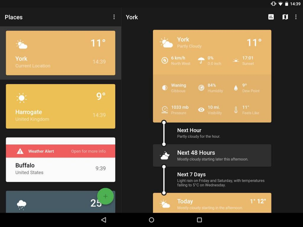 Android Apps for Weather - Weather Timeline