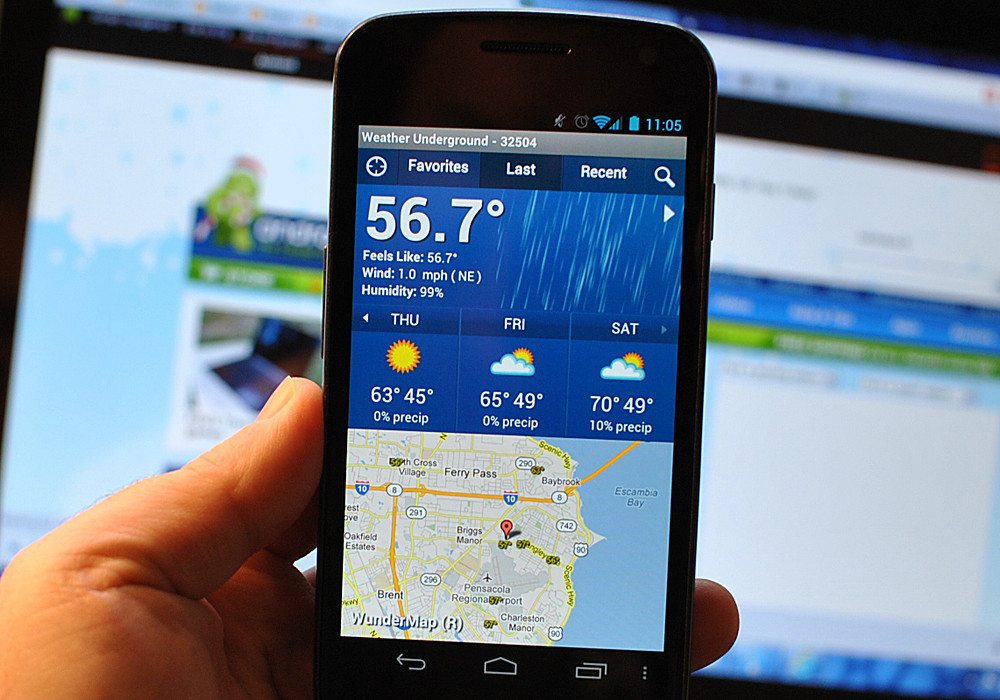 Android Apps for Weather - Weather Underground