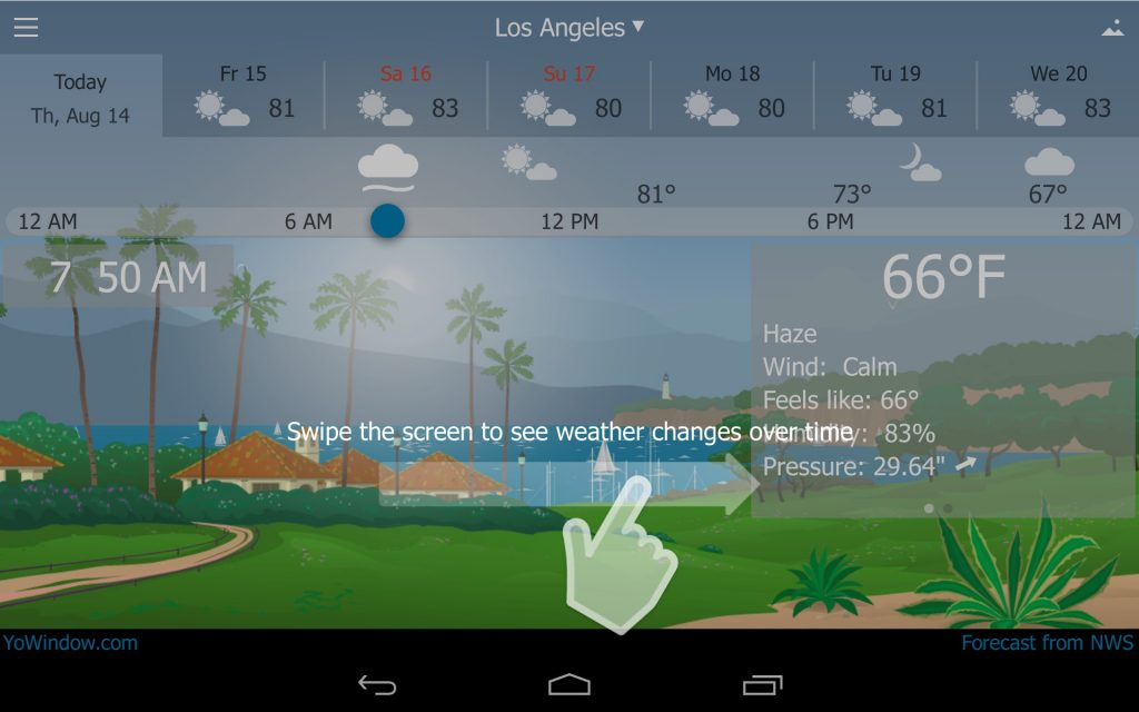 Android Apps for Weather - YoWindow