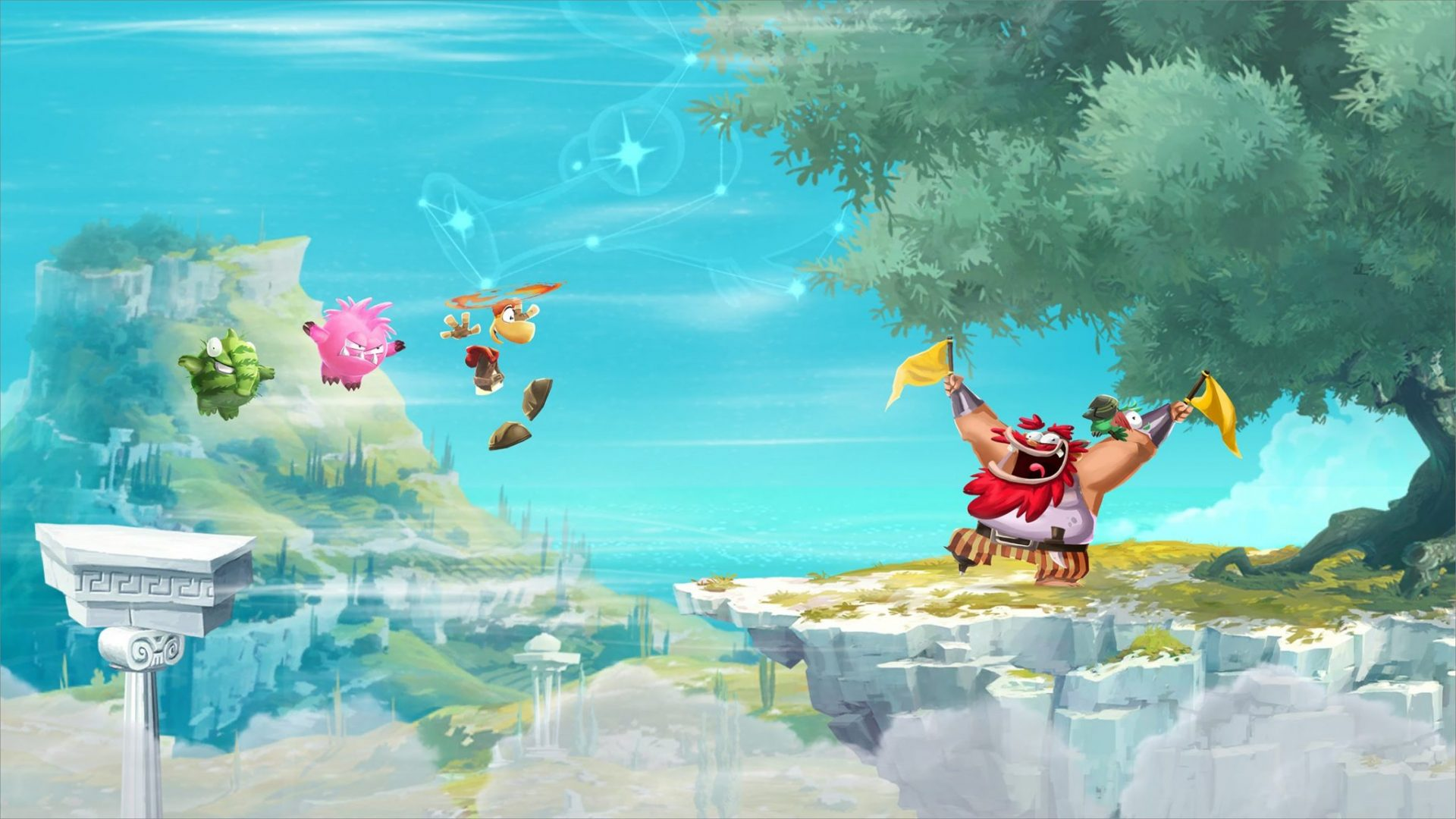 Game with watercolor - Android Game App Reviews Rayman Adventures