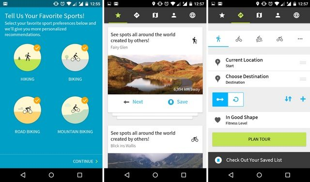 Android GPS App Reviews - Komoot for the Great Outdoor Trips