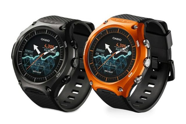 #1 in our List of the Best Smartwatches for Android Phones - Casio WSD-F10 Smart Outdoor Watch