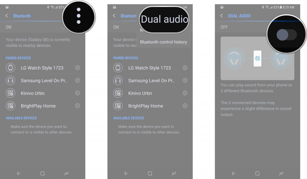 Samsung Galaxy S8 Tips and Tricks - Stream Audio to Two Bluetooth Headphones Simultaneously