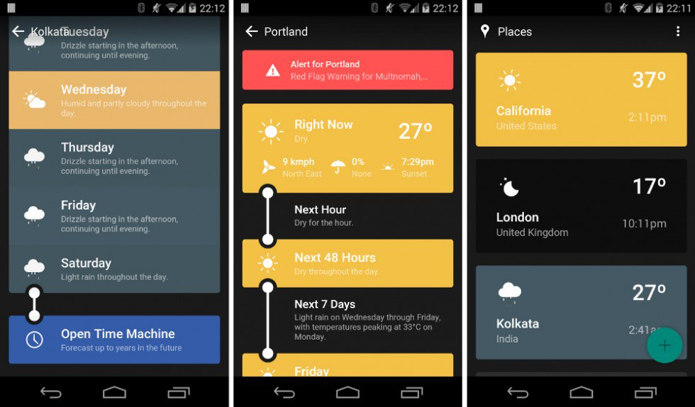Best Weather Apps for Android 2018 - Weather Timeline