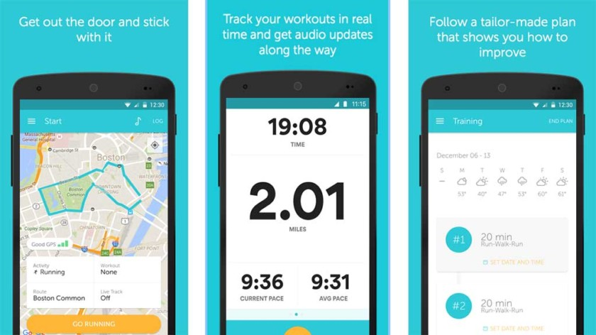 #2 in Our Best Running App Android List - Runkeeper