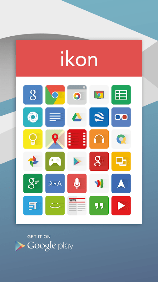 #10 in Our Best Icon Packs for Android List - Ikon