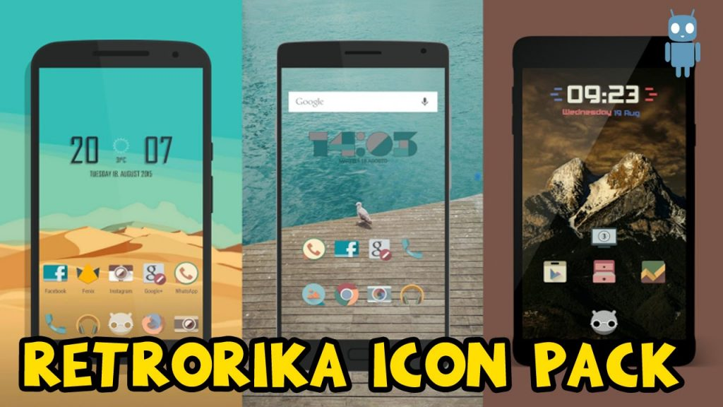 #3 in Our Best Icon Packs for Android List- Retrorika