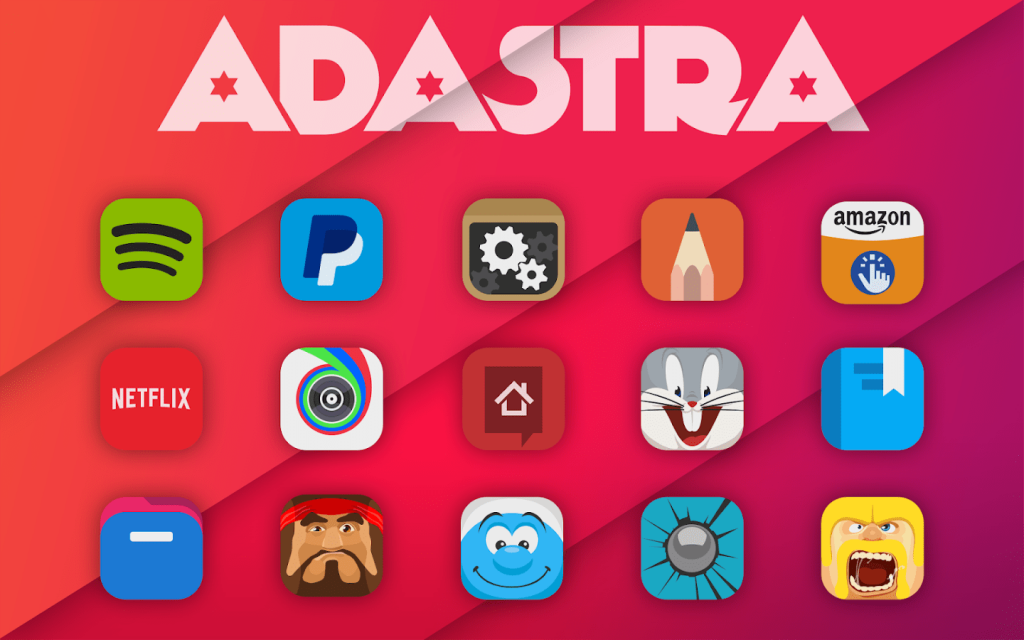 #8 in Our Best Icon Packs for Android List - Adastra