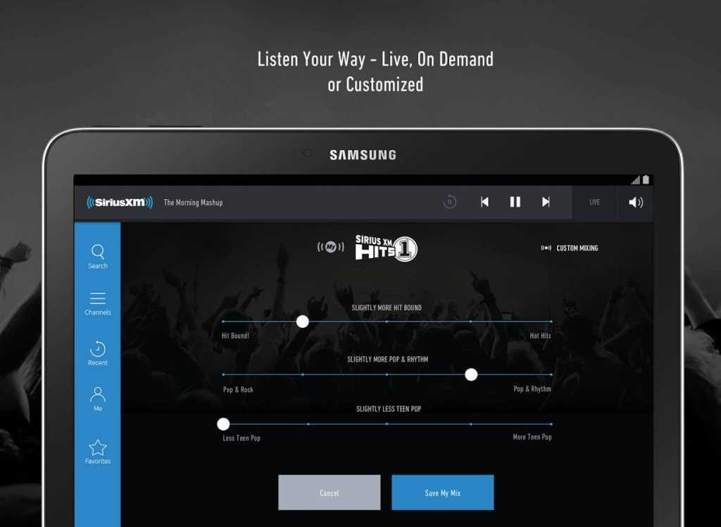 Best Radio Apps for Android - SiriusXM