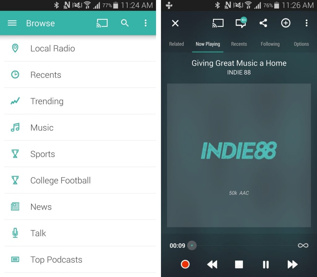 Best Radio Apps for Android - TuneIn