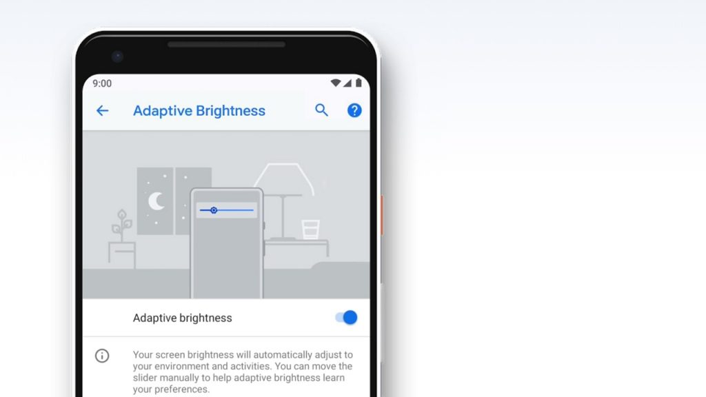 Android Pie Features - Adaptive Brightness