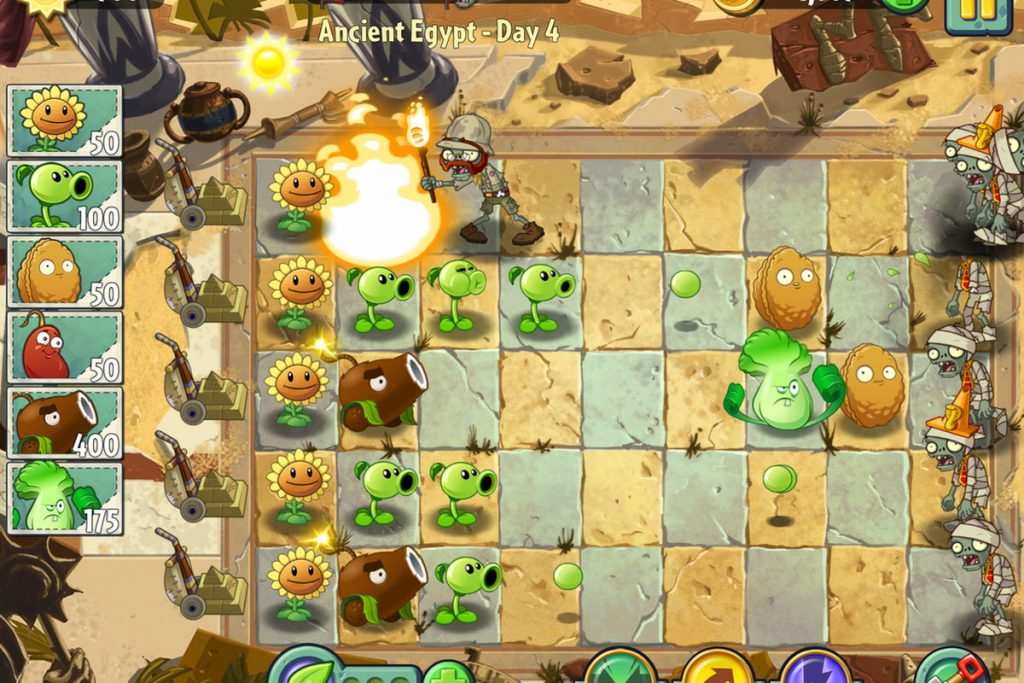 Best Strategy Games for Android – Plants vs Zombies 2