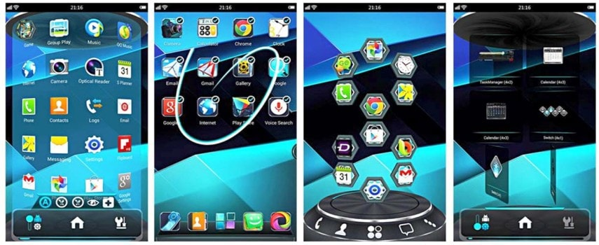 #9 in Our Best App Launcher for Android List - Next Launcher 3D Shell