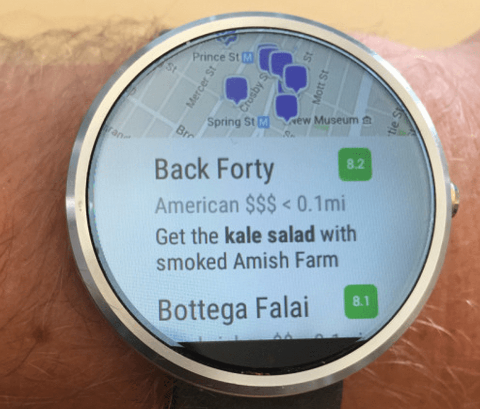 Best Android Wear Apps - Foursquare