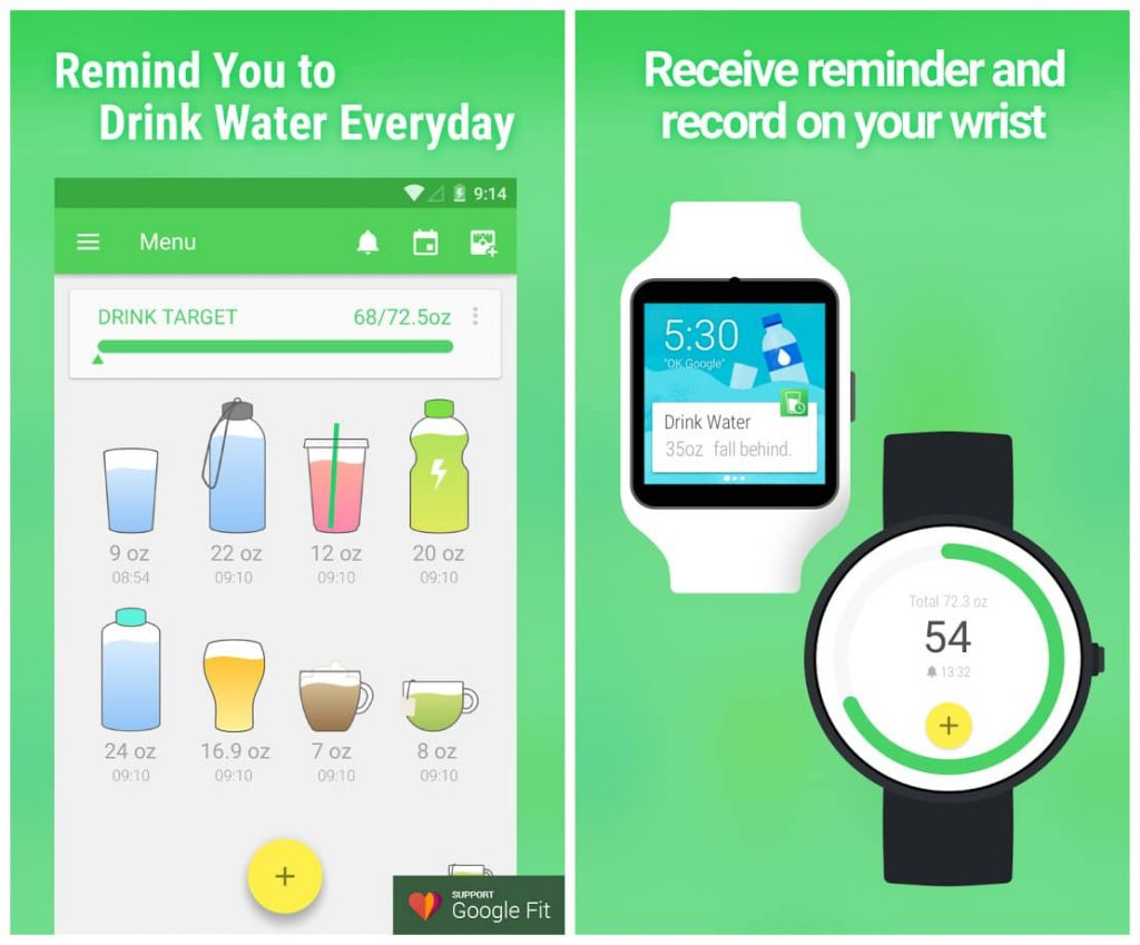 Best Android Wear Apps - Water Drink Reminder