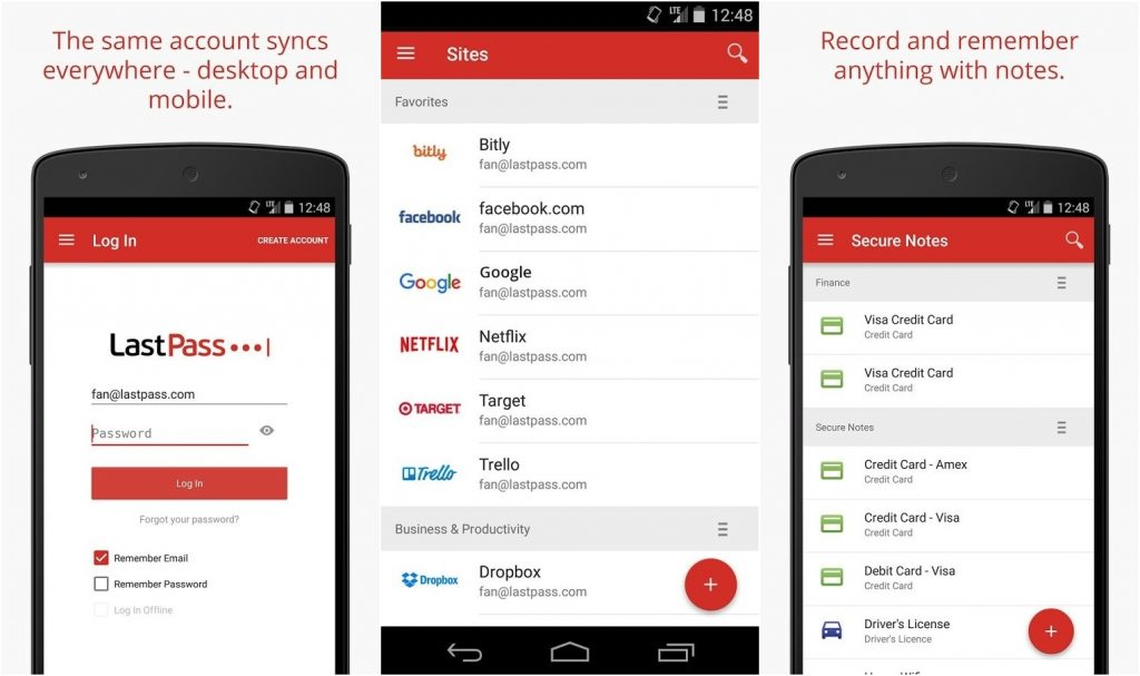 Best Android Apps 2018 - LastPass Password Manager