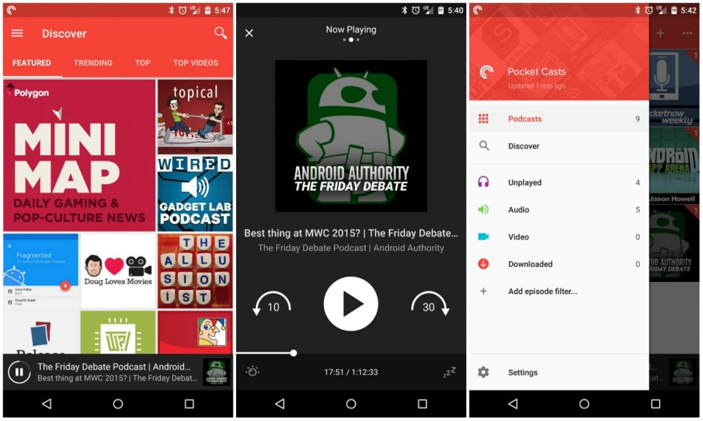 Best Android Apps 2018 - Pocket Casts