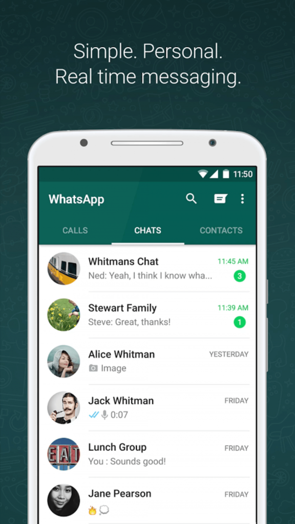 1. WhatsApp – The The Hottest One Among  All the Popular Messaging Apps in 2019