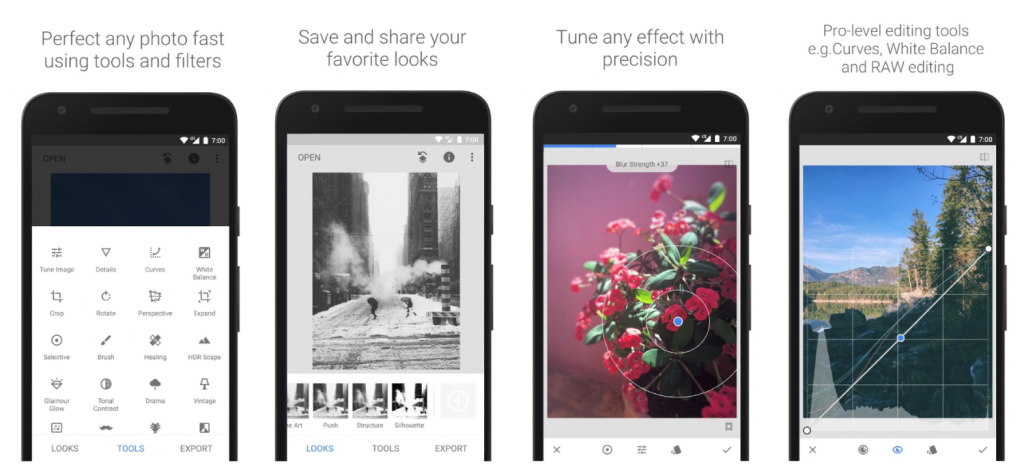 9. Snapseed - Best Photo Editor for Android