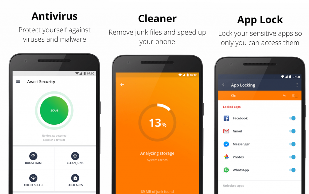 2. Avast Mobile Security – Best Antivirus for Android with Respect to Accuracy Rate