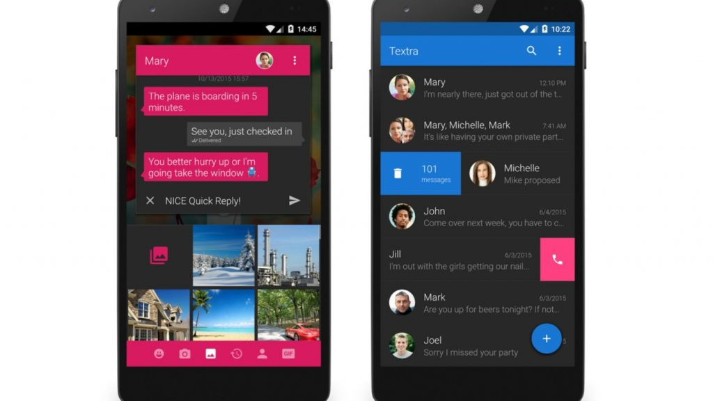 4. Textra SMS - One of the Best Looking SMS Apps for Android