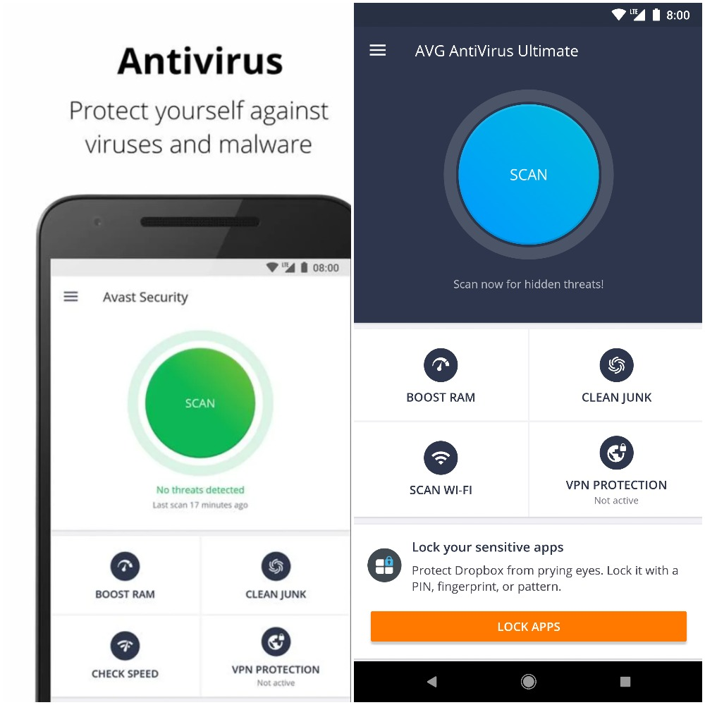Avast or AVG for Android - User Friendliness